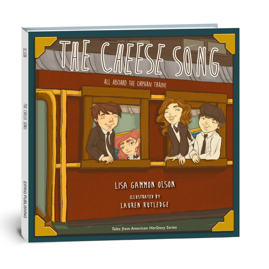 book cover for the cheese song