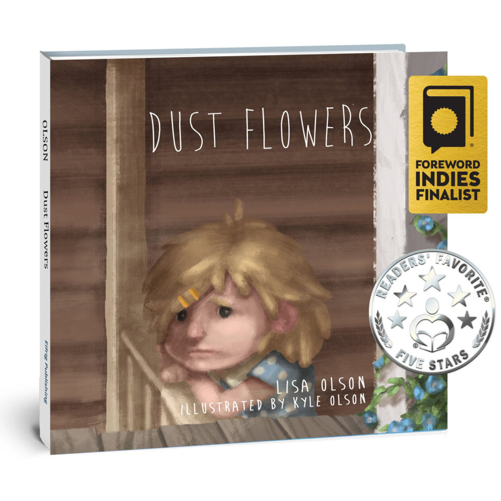 book cover for dust flowers