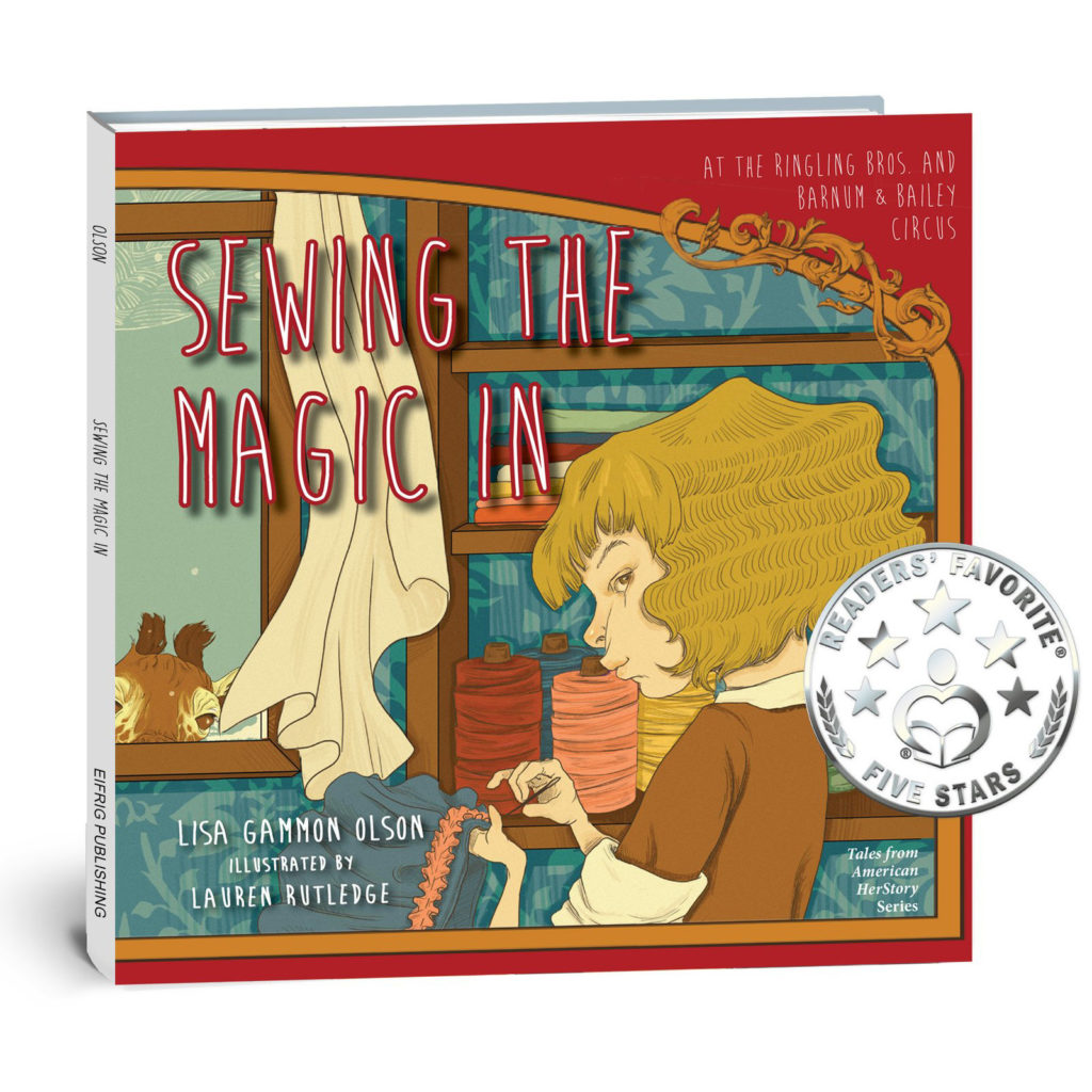 book cover for sewing the magic in